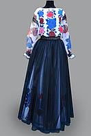 """Костюм український жіночий стилізований """"Сині квіти"""""""