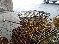 Плетеный цветочник из лозы техника