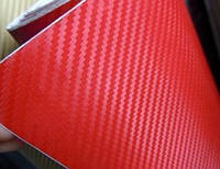 Карбоновая пленка красная 50х127см