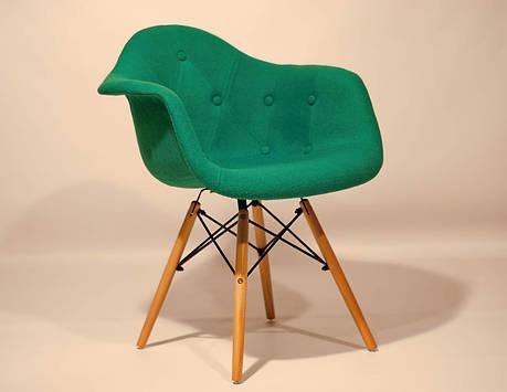 Кресло  Leon Soft шерсть , бирюза, фото 2