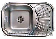 Кухонная прямоугольная мойка из нержавеющей стали с крылом  Galati Stela Tekstura