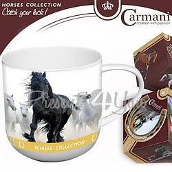 Фарфоровая кружка «Лошади» Carmani, 500 мл