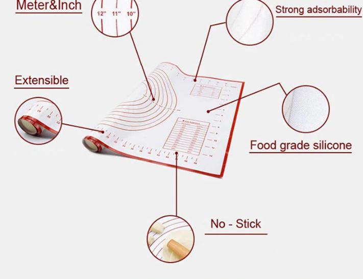 Силиконовые коврики для изготовление коржей, пиццы +подарок