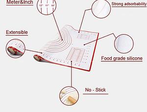 Силиконовые коврики для изготовление коржей, пиццы