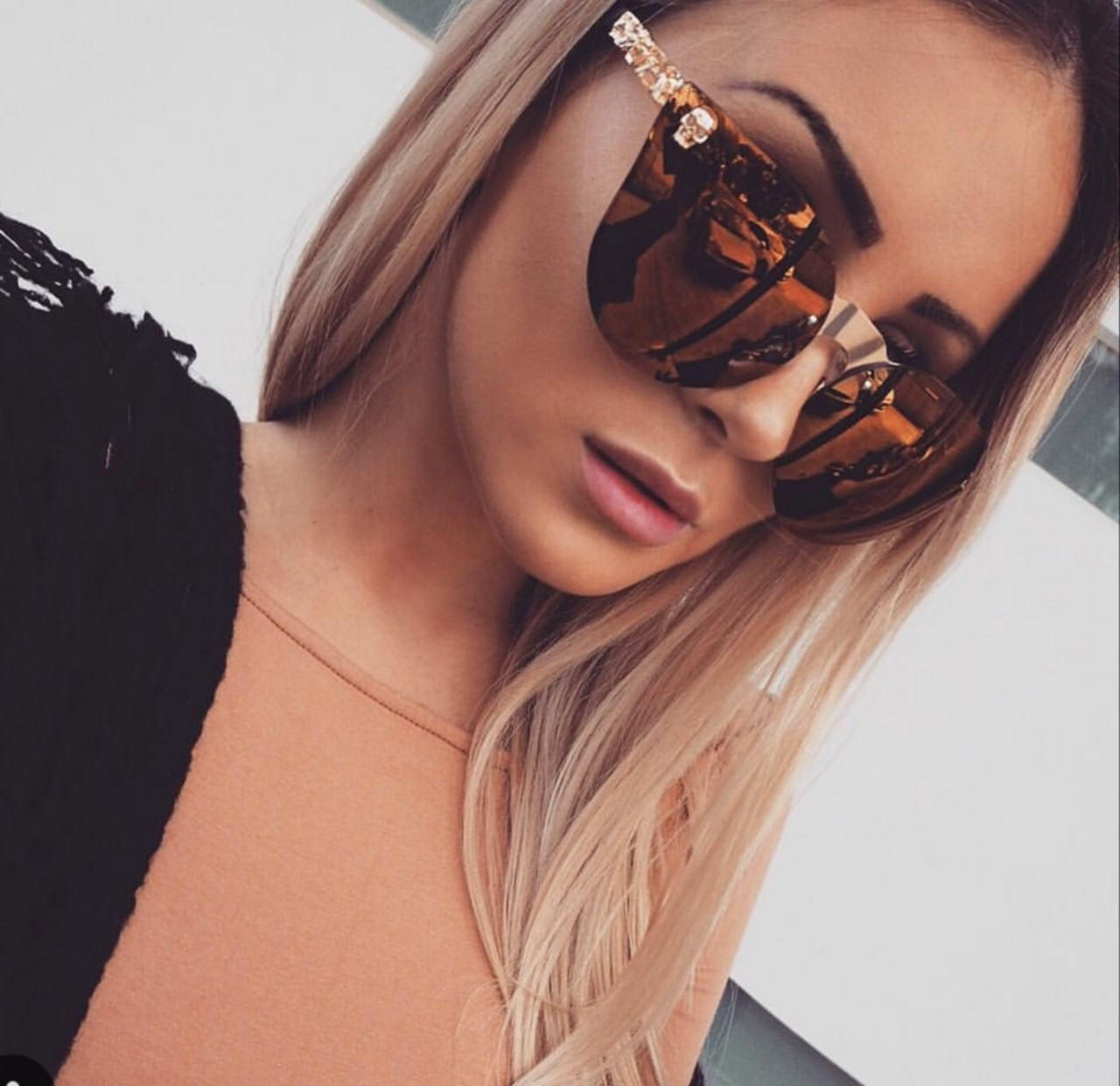 Женские  солнцезащитные очки бабочки 4531 золото