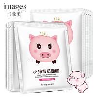 Маска тканевая белая увлажняющая и осветляющая Mask Pig Yogurt  Moisturizing Whitening