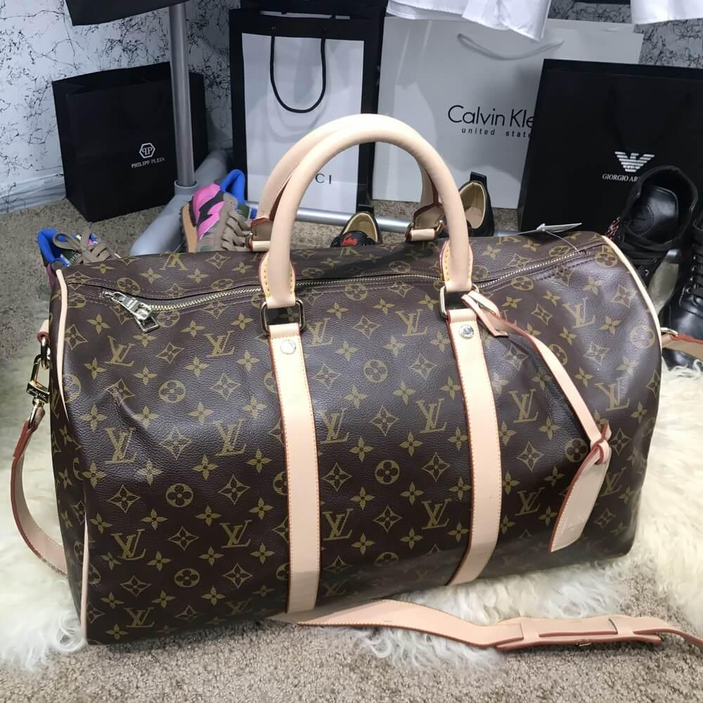 Softsided Luggage Louis Vuitton Keepall 55 Monogram
