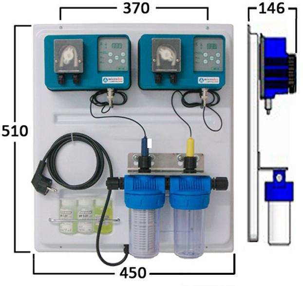 Габаритные размеры станции дозирования Microdos Pool Family 1