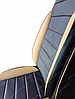 Чехлы на сиденья БМВ Е39 (BMW E39) (универсальные, кожзам, пилот СПОРТ), фото 5