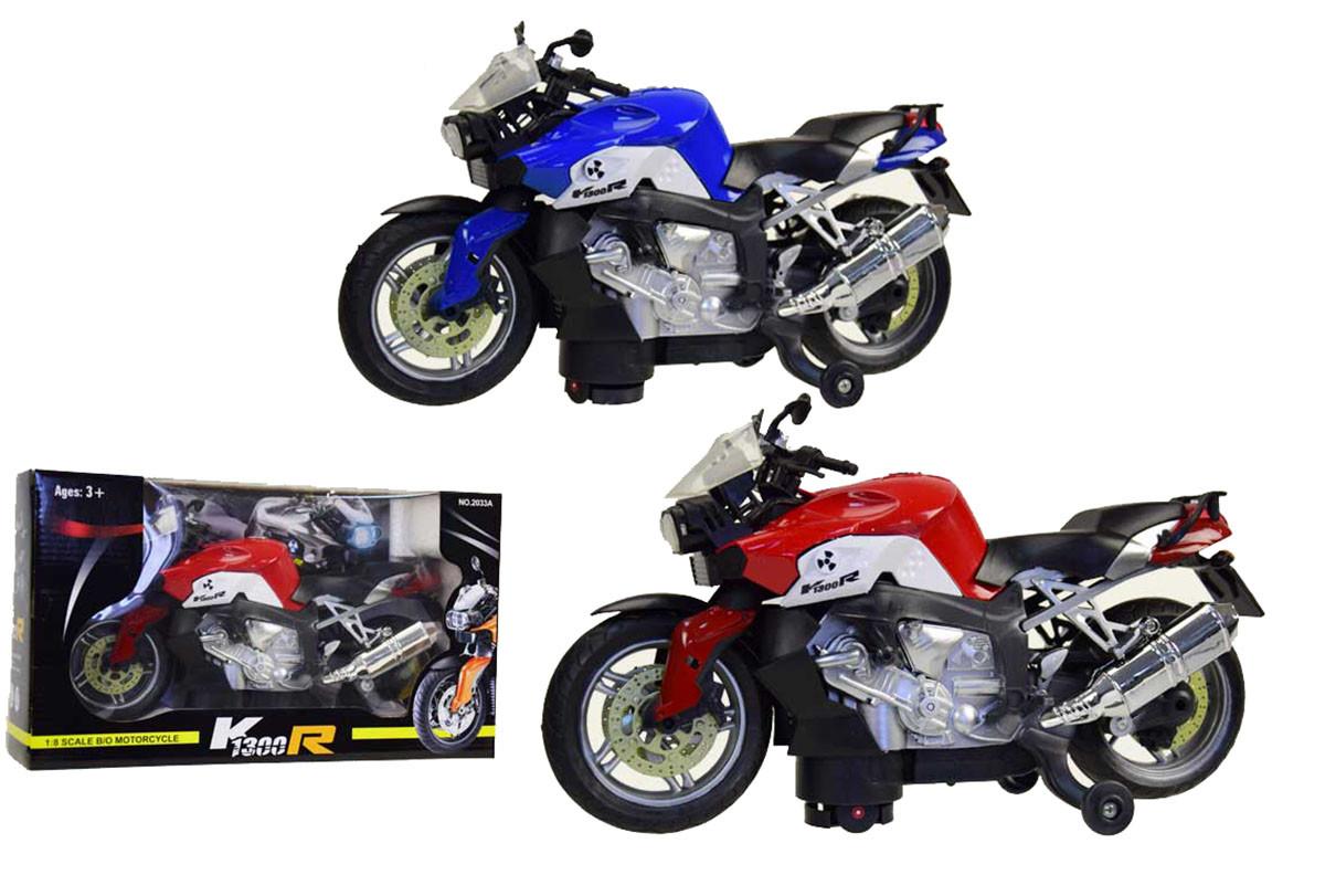 Мотоцикл батар. 2033A (36шт) 2 види, в коробці 31*11*18см