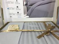 2 Евро. Однотонное сатиновое постельное белье.серый