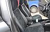 Чехлы на сиденья БМВ Е46 (BMW E46) (модельные, экокожа Аригон+Алькантара, отдельный подголовник), фото 4