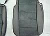 Чехлы на сиденья БМВ Е46 (BMW E46) (модельные, экокожа Аригон+Алькантара, отдельный подголовник), фото 5