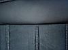 Чехлы на сиденья БМВ Е46 (BMW E46) (модельные, экокожа Аригон+Алькантара, отдельный подголовник), фото 6