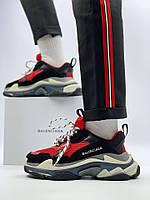 Кроссовки Balenciaga Triple S Red Black (Реплика Люкс) cfdaaf0d2e7a6