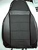 Чехлы на сиденья БМВ Е60 (BMW E60) (универсальные, кожзам+автоткань, с отдельным подголовником), фото 4