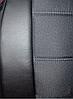 Чехлы на сиденья БМВ Е60 (BMW E60) (универсальные, кожзам+автоткань, с отдельным подголовником), фото 2