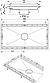 Кухонний канал BLUCHER з фланцем, нерж. сталь, 500x1000 мм, DN160, арт. 662GK010-15 для вінілової підлоги, фото 6