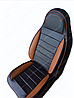 Чехлы на сиденья БМВ Е60 (BMW E60) (универсальные, кожзам, пилот СПОРТ), фото 2