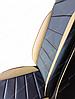 Чехлы на сиденья БМВ Е60 (BMW E60) (универсальные, кожзам, пилот СПОРТ), фото 5