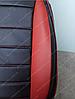 Чехлы на сиденья БМВ Е60 (BMW E60) (универсальные, кожзам, пилот СПОРТ), фото 9