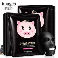 Акция -5шт масок в подарок! Маска тканевая черная угольная увлажняющая Mask Pig Yogurt Charcoal Moisturizing, фото 1