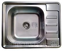 Прямоугольная кухонная мойка из нержавеющей стали с крылом (оборачиваемая) Galati Douro Textura
