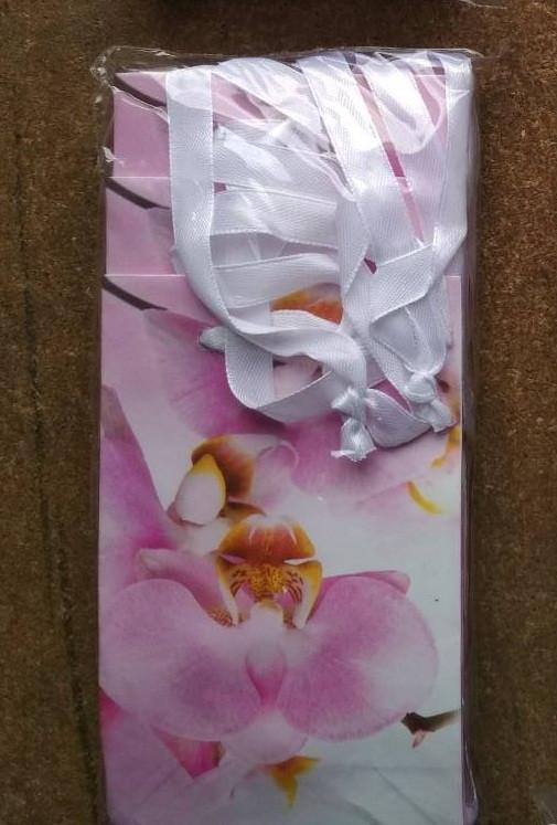 Подарочный бумажный пакет МИНИ ''Орхидея'' 8*12*3.5 см