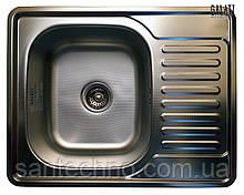 Прямоугольная кухонная мойка из нержавеющей стали с крылом (оборачиваемая) Galati Donka Textura