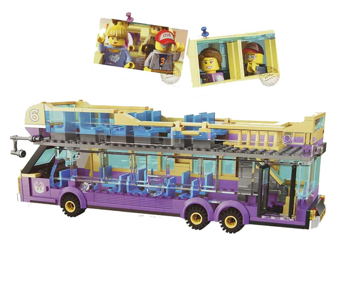 """Конструктор """"Brick"""" 1123 (24шт/2) """"Экскурсионный автобус"""" 455 дет., 6+лет, в собр. кор.41*29*6,5 см"""