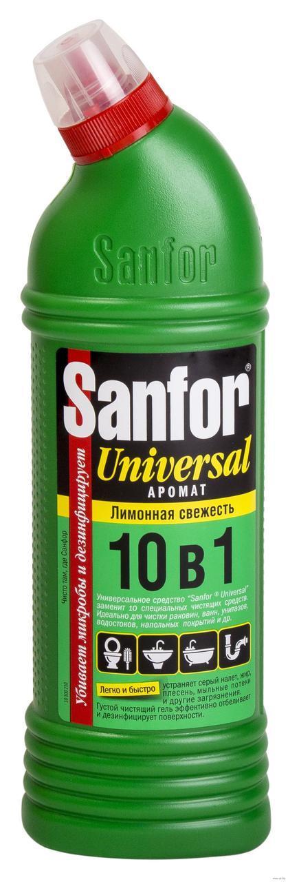 """Средство чистящее универсальное """"Sanfor 10в1"""" Лимонная свежесть 1000мл"""