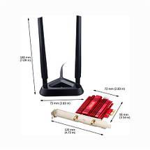 WiFi-адаптер ASUS PCE-AC56  802.11ac, 2.4/5 ГГц, AC1300,  PCI Express, фото 3