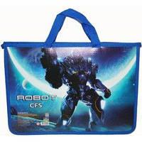 Портфель пластиковый на молнии CFS Robot A4