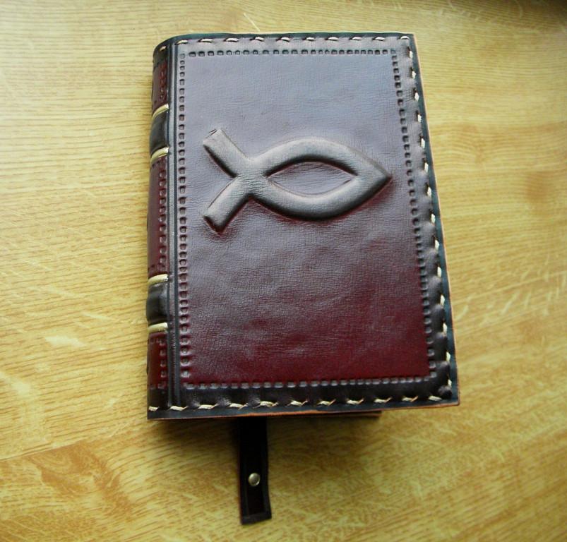Обложка кожаная на Библию ручной работы
