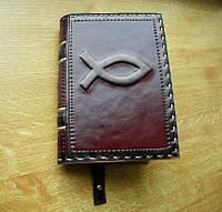 Обложка кожаная на Библию ручной работы, фото 1