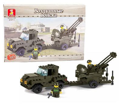 """Конструктор SLUBAN M38-B7300 (316456R) (48шт) """"Вооруженные силы"""" 221дет., в кор. 29,5*20,5*4,5 см"""
