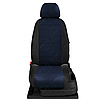 Чехлы на сиденья Чери КуКу (Chery QQ) (модельные, экокожа+автоткань, отдельный подголовник), фото 8