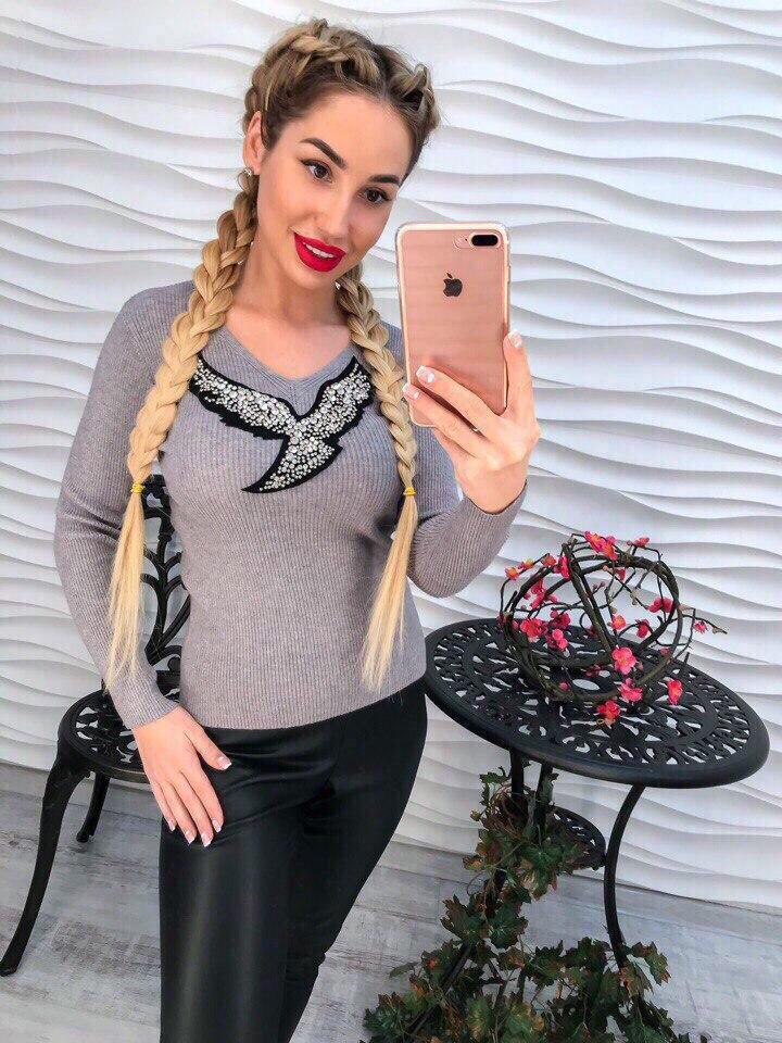Женский стильный свитер РАЗНЫЕ ЦВЕТА(Фабричный Китай ) Код 148