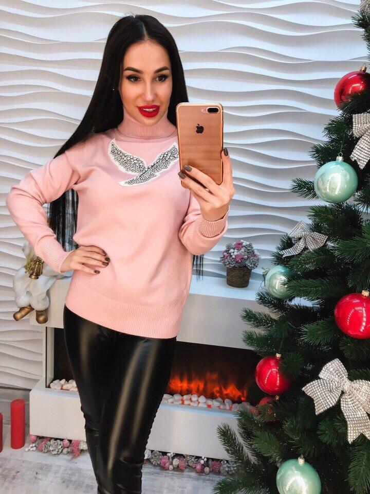 Женский стильный свитер РАЗНЫЕ ЦВЕТА(Фабричный Китай ) Код 294