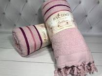 Пляжное махровое полотенце с кисточкой