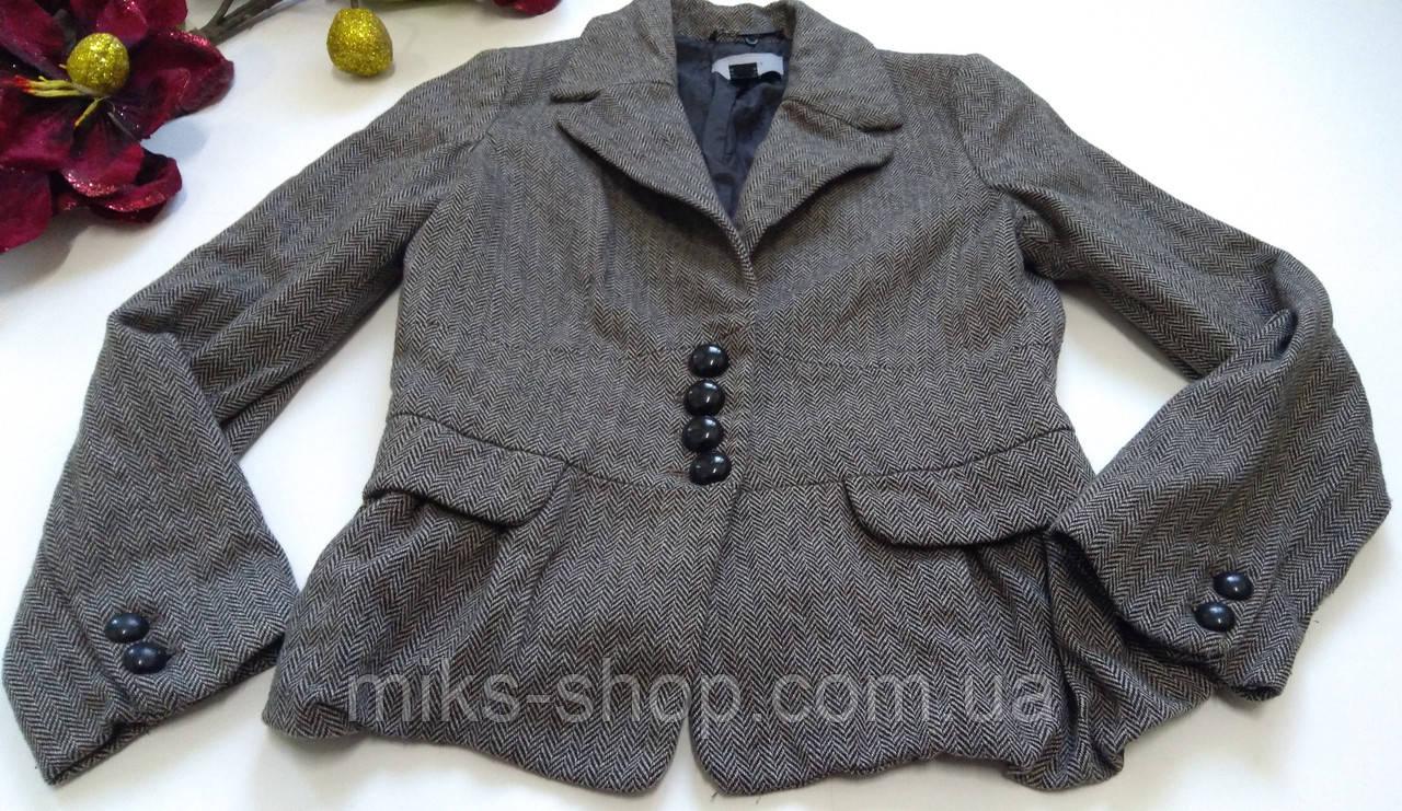 Кашемировый серый пиджак на пуговицах\жакет