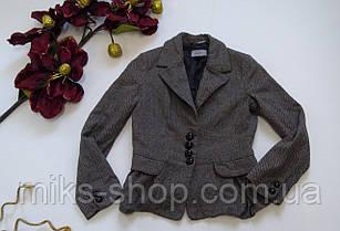 Кашемировый серый пиджак на пуговицах\жакет, фото 3