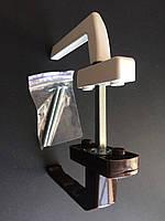 Гарнитур балконный (Украина) ассиметричныйкомбинированный белый+коричневый (моноблок узкая ручка+обычная)