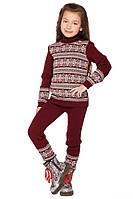Теплыйжаккардовый свитер для девочек 104-122р