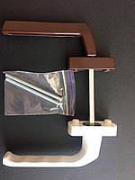 Гарнитур балконный (Украина) асимметричныйкомбинированный коричневый+белый (моноблок узкая ручка+обычная)