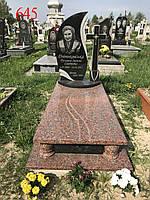 Памятник комбинированный с точеными углами, фото 1
