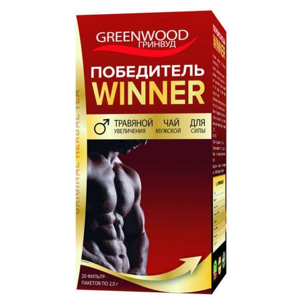 Переможець трав'яний чай 20 фільтр-пакетів