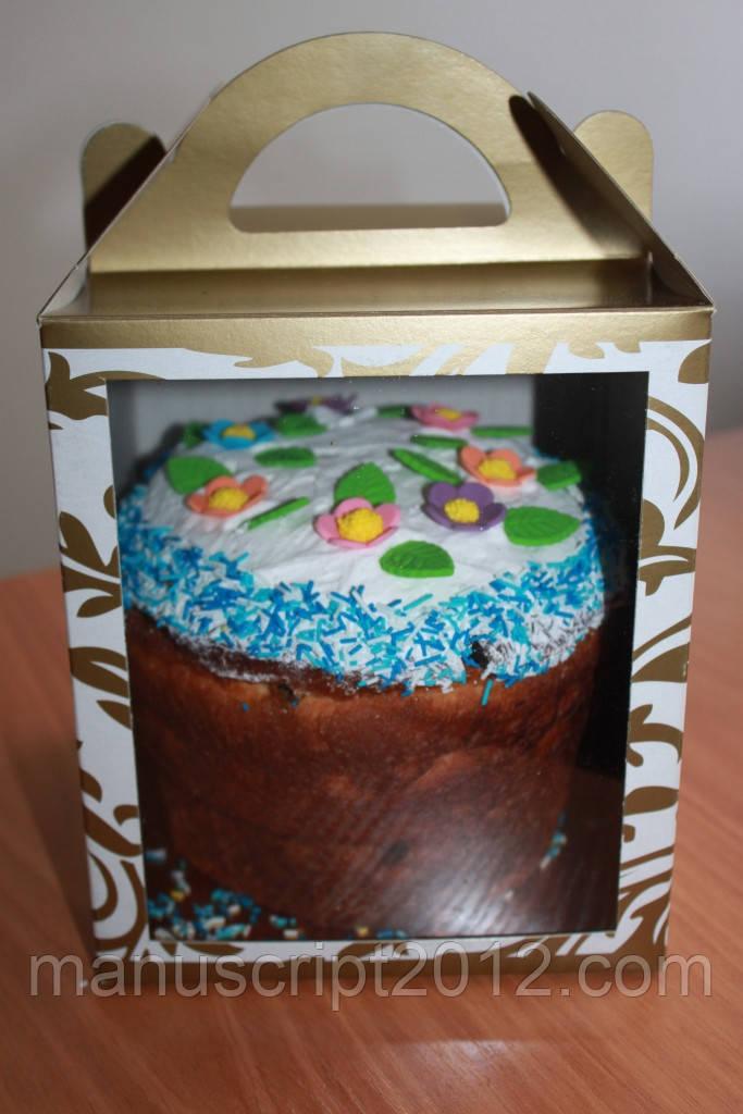 Коробка для кулича, пряничного домика, подарков, чашки 11,5х12х14 см.