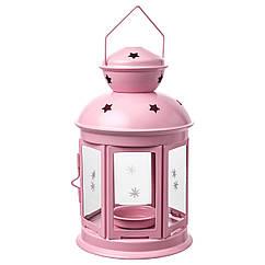 Фонарь (латаренка) IKEA ROTERA 21 см светло-розовый 504.224.27