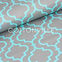 ✁ Відрізи тканини Марокко сіро-біла, фото 1
